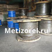 Канат двойной свивки типа лк-з стальной грузовой черный и оцинкованный